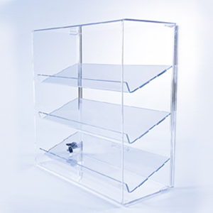 Three Angled Shelf Display Case - LRC3